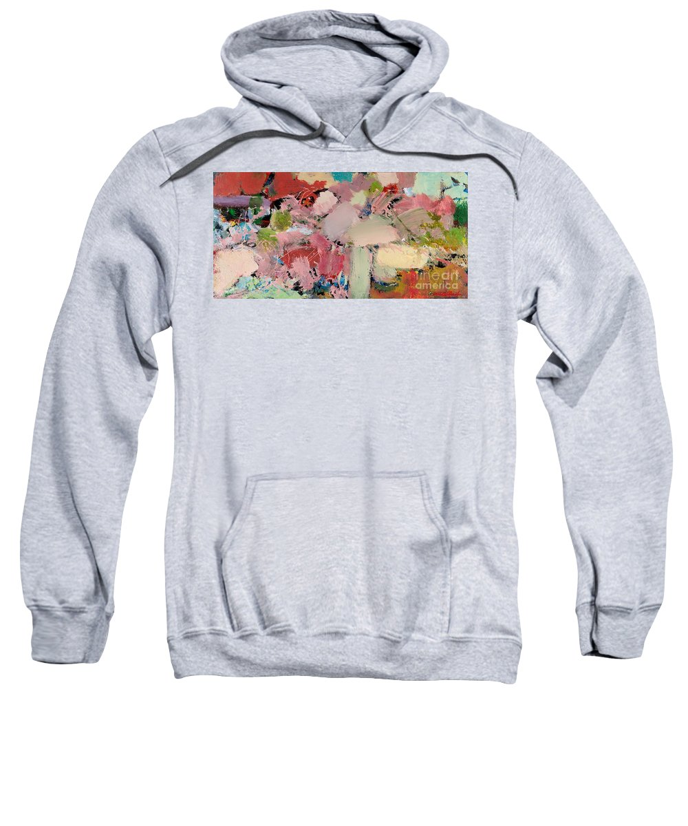 Landscape Sweatshirt featuring the painting Azaleas by Allan P Friedlander