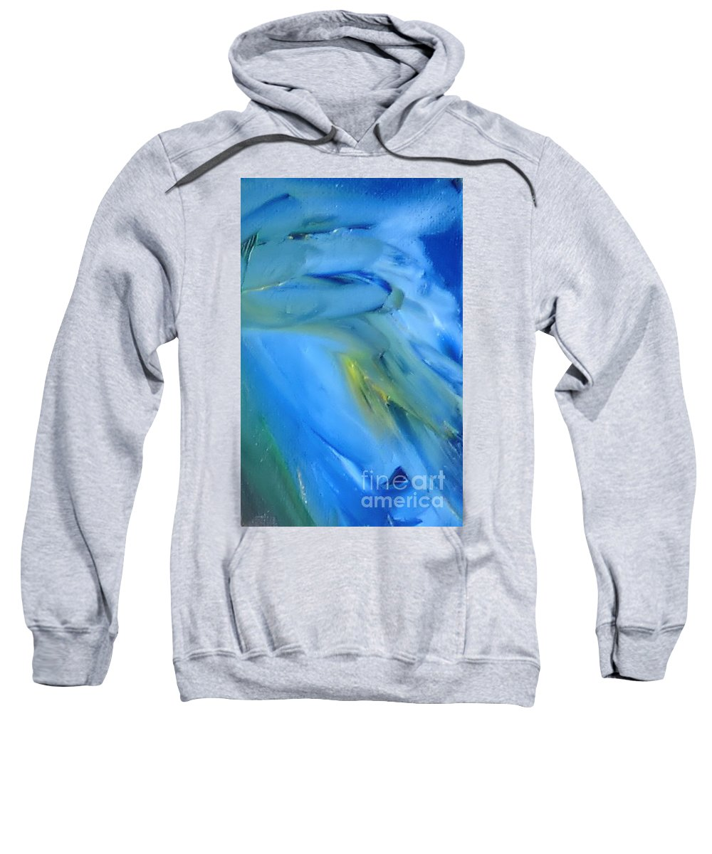 Modern Sweatshirt featuring the painting Azul by Reina Resto
