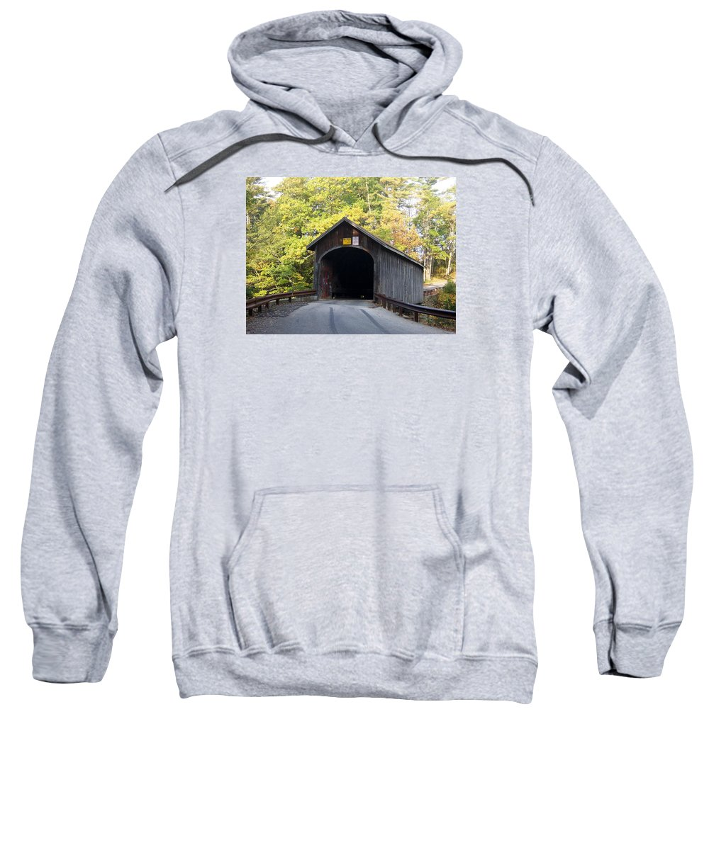 Bridges Photographs Sweatshirt featuring the photograph Babbs Covered Bridge by Catherine Gagne
