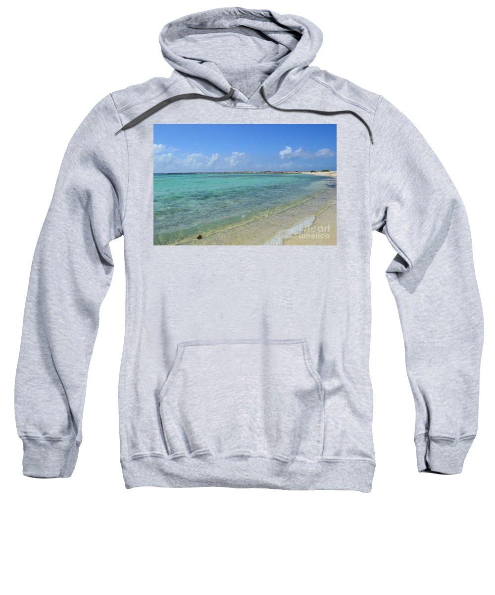 Baby Beach Sweatshirt featuring the photograph Baby Beach Aruba by DejaVu Designs