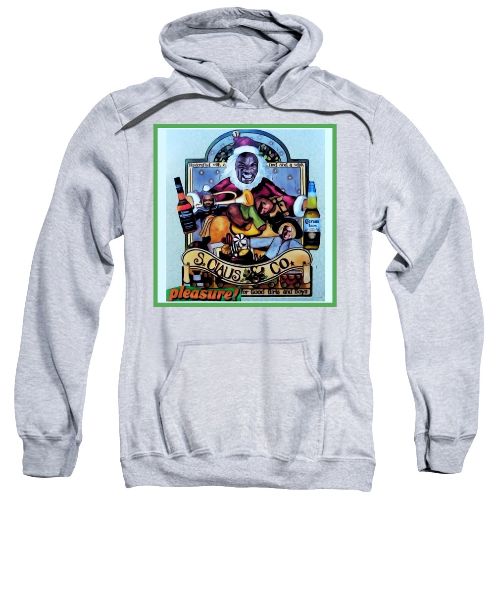 Santa Sweatshirt featuring the digital art Bad Santa by Lisa Piper