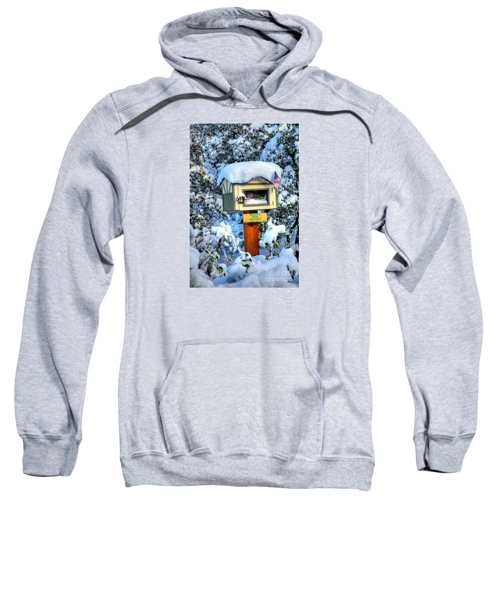 Diana Graves Photography Sweatshirt featuring the photograph Baley's Book Exchange by K D Graves