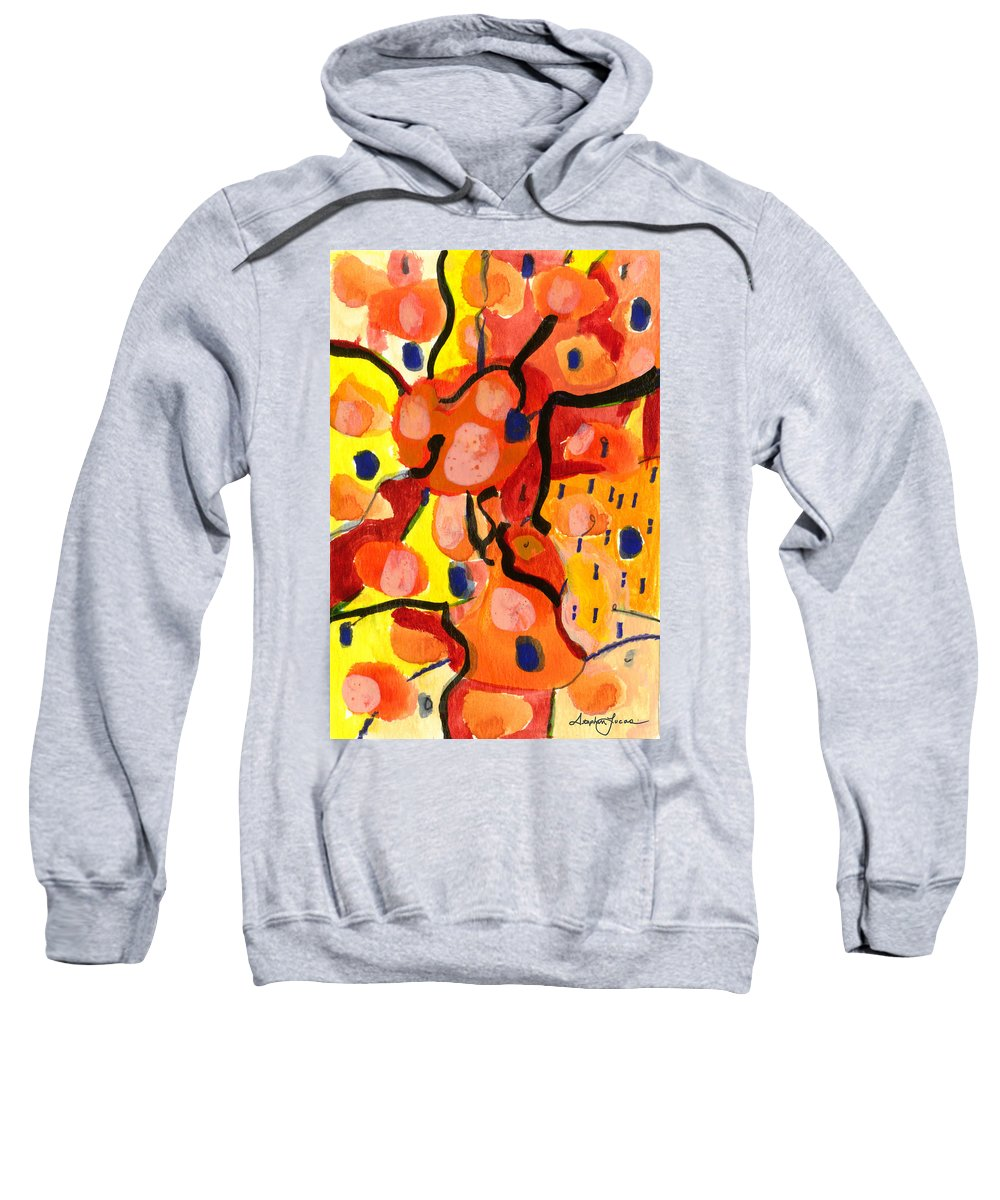 Abstract Art Sweatshirt featuring the painting Balloons At Mid-day by Stephen Lucas