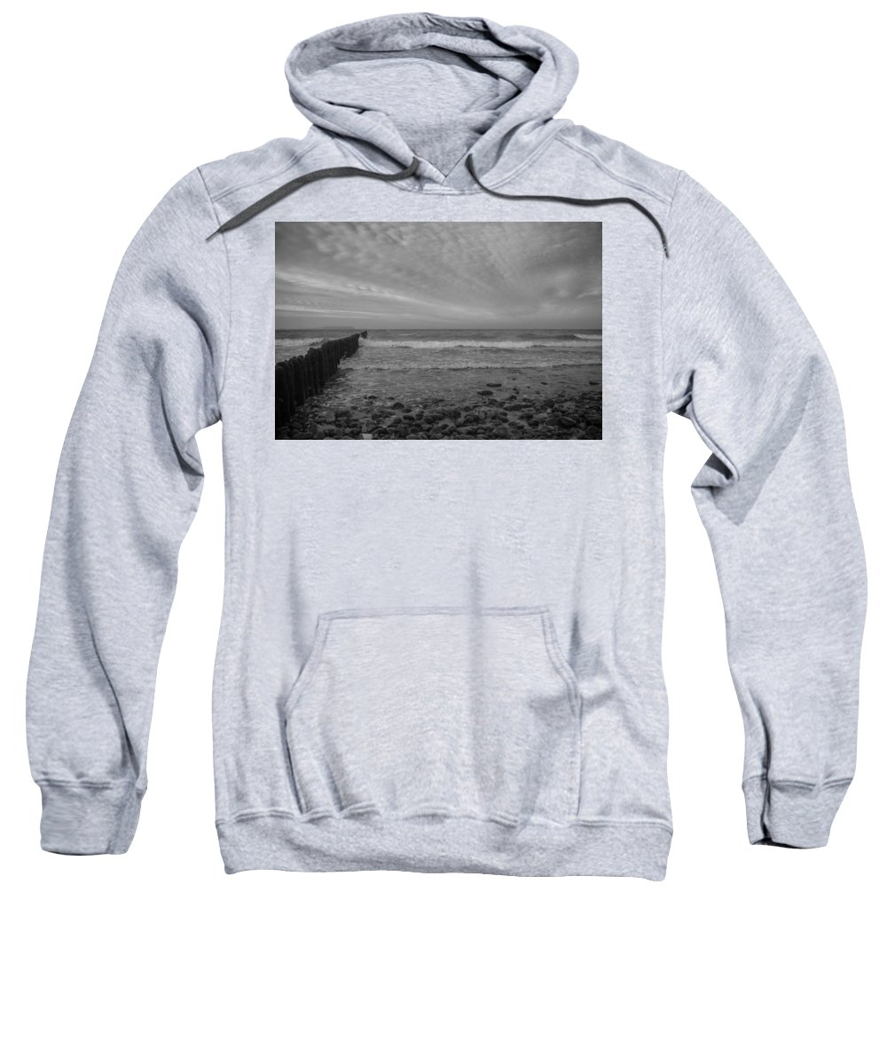 Island Of Ruegen Sweatshirt featuring the photograph Baltic Sea And Clouds by Ralf Kaiser