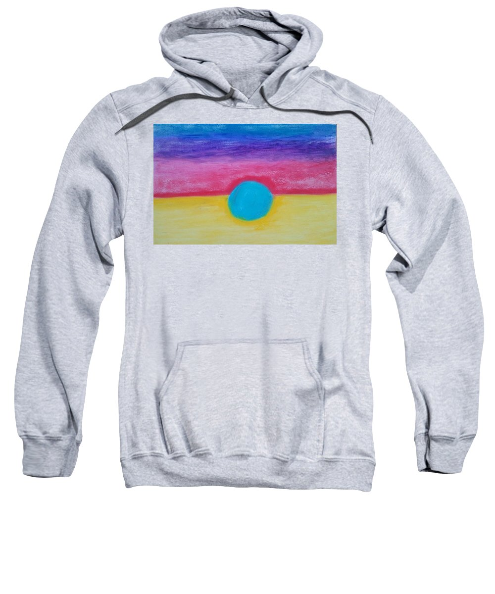 Abstract Sweatshirt featuring the painting Bands Of Color by Michael Woolcock