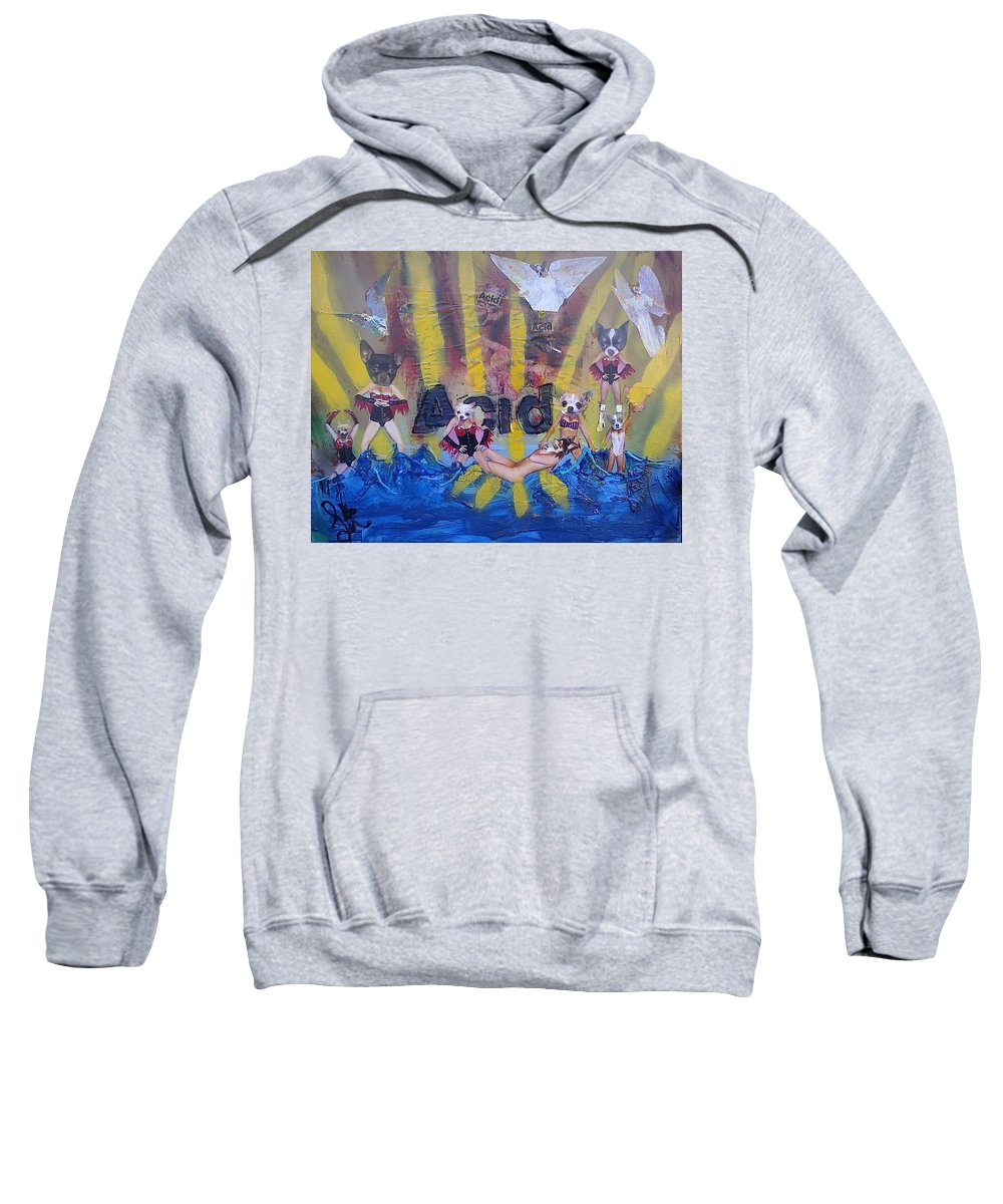 Professional Sweatshirt featuring the painting Baptism In Acid by Lisa Piper