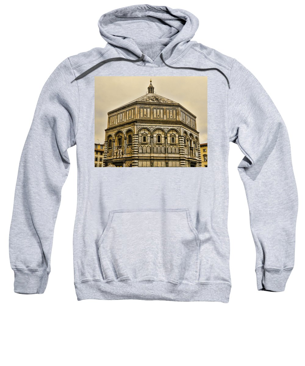 North Doors Sweatshirt featuring the photograph Baptistry - Florence Italy by Jon Berghoff