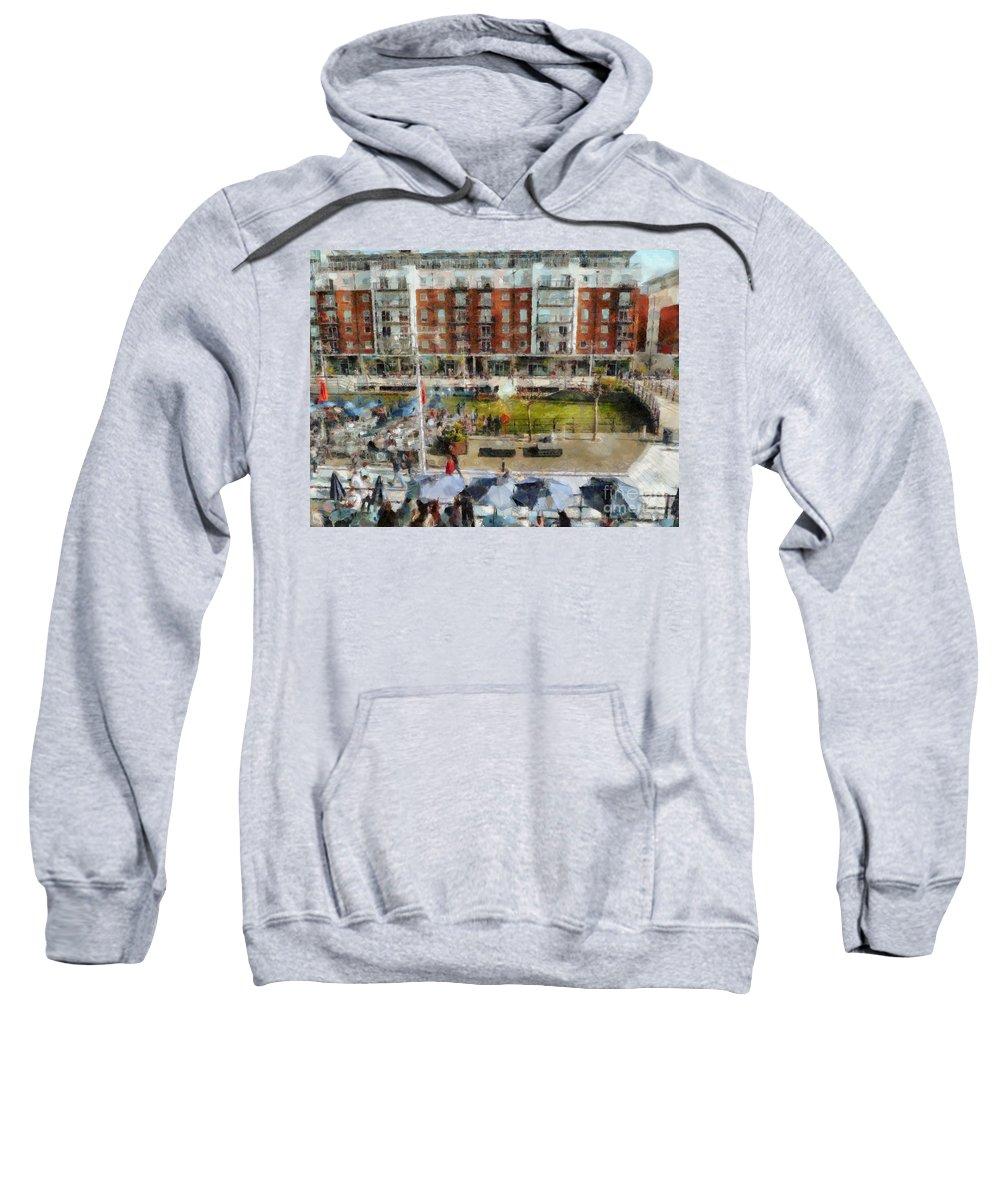 Bar 38 Sweatshirt featuring the photograph Bar 38 Gunwharf Quays by Claire Bull