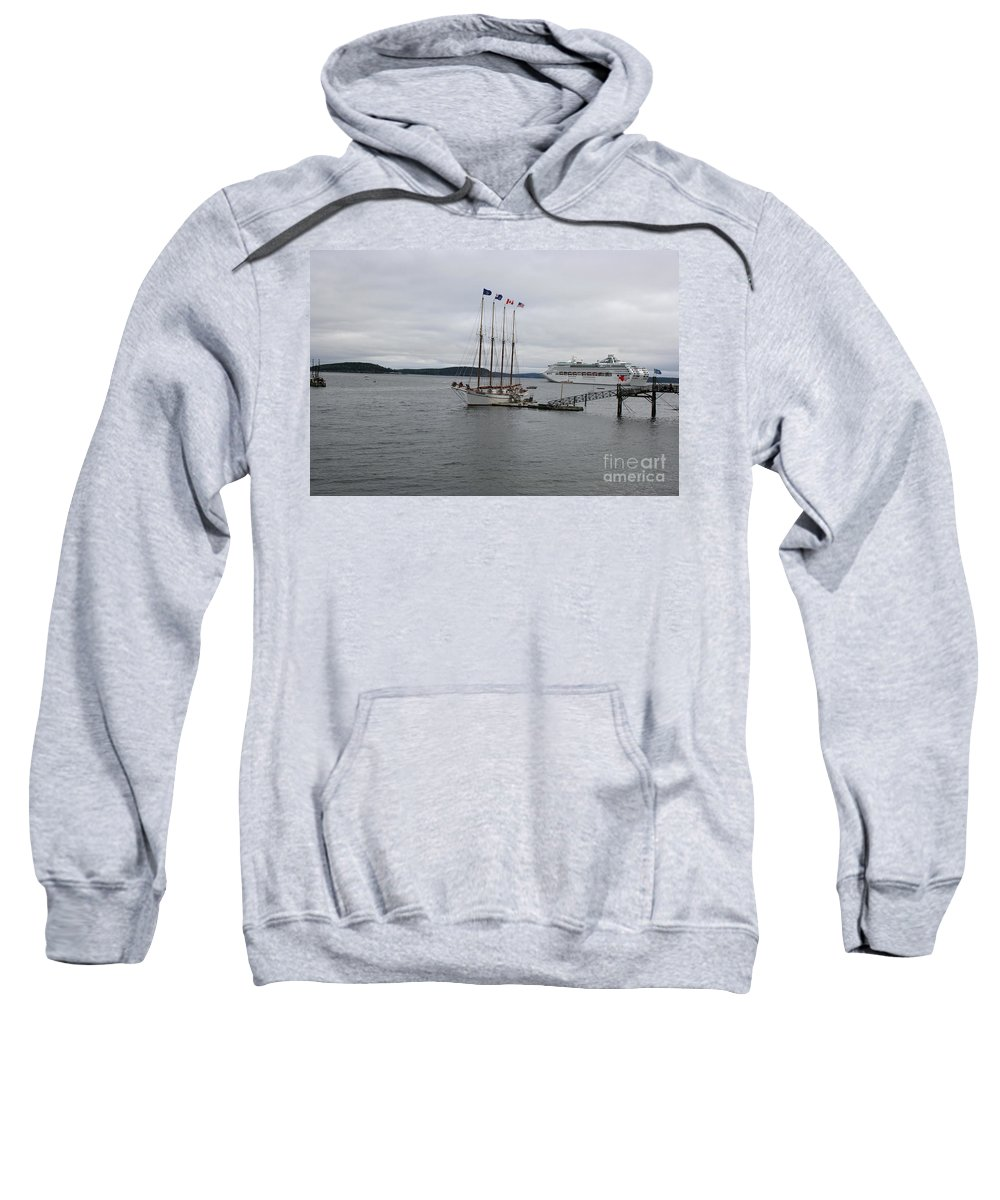 Bar Harbor Sweatshirt featuring the photograph Bar Harbor Maine by Christiane Schulze Art And Photography