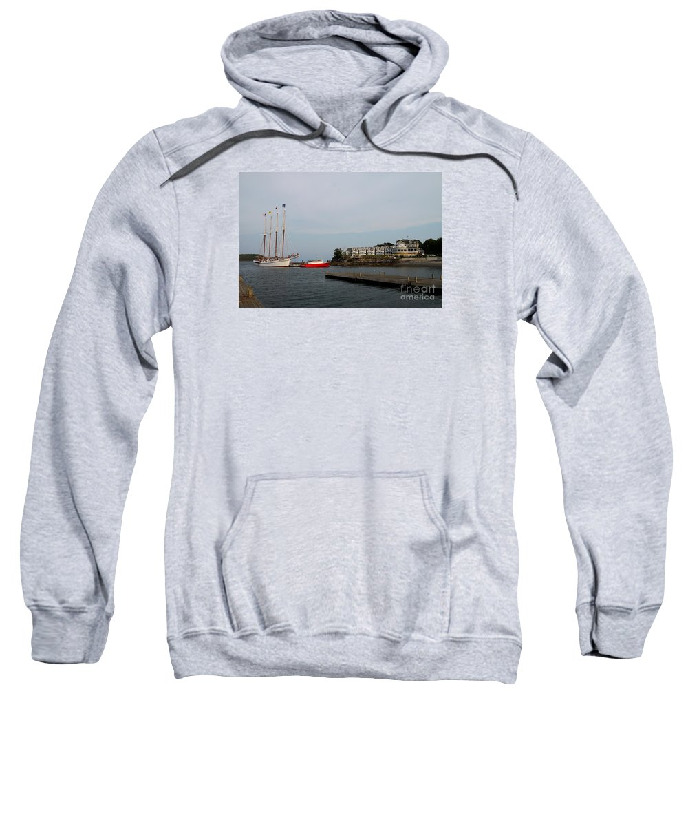 Schooner Sweatshirt featuring the photograph Bar Harbor Scene Maine by Christiane Schulze Art And Photography
