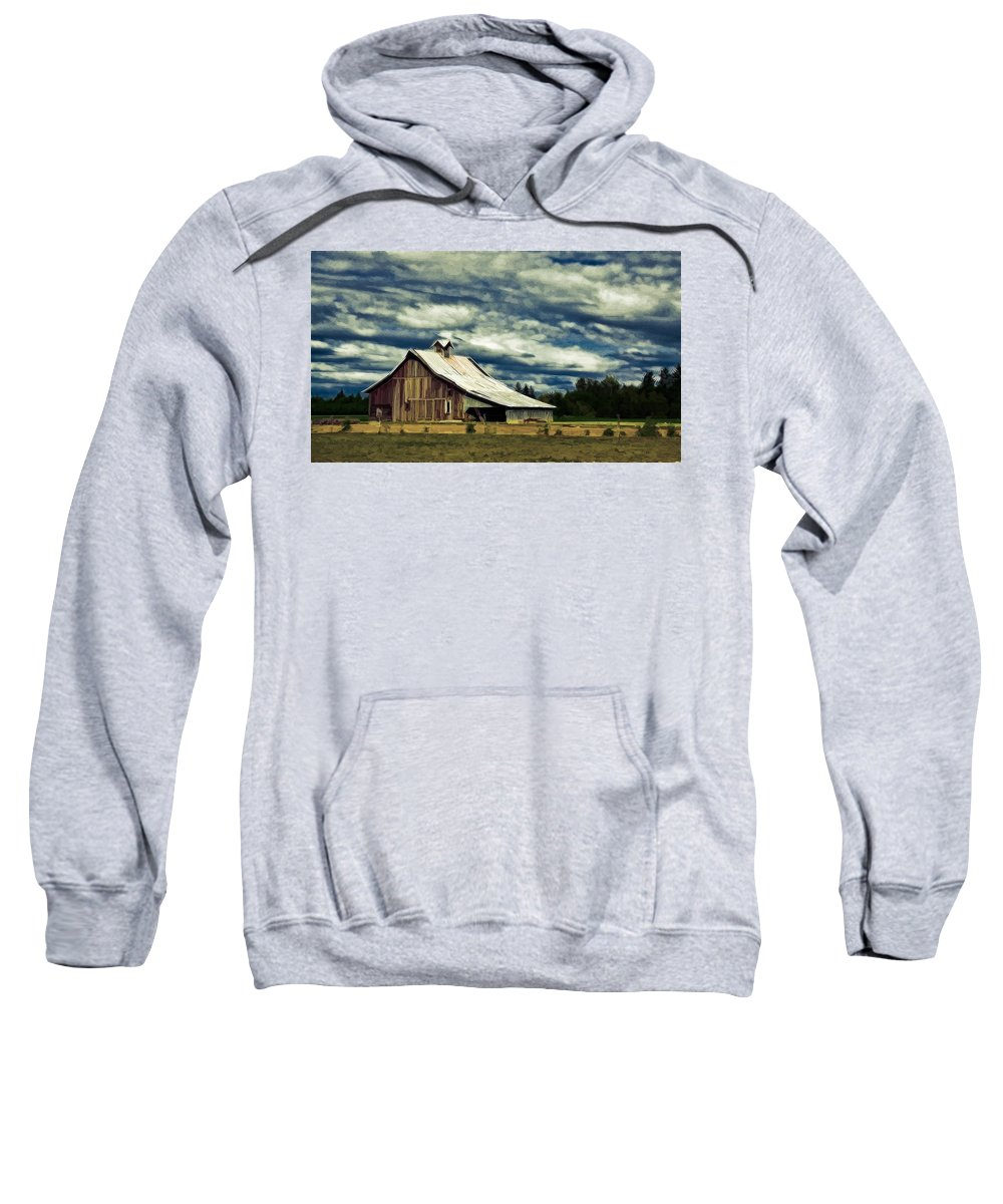 Cabin Sweatshirt featuring the photograph Barn by Steve McKinzie