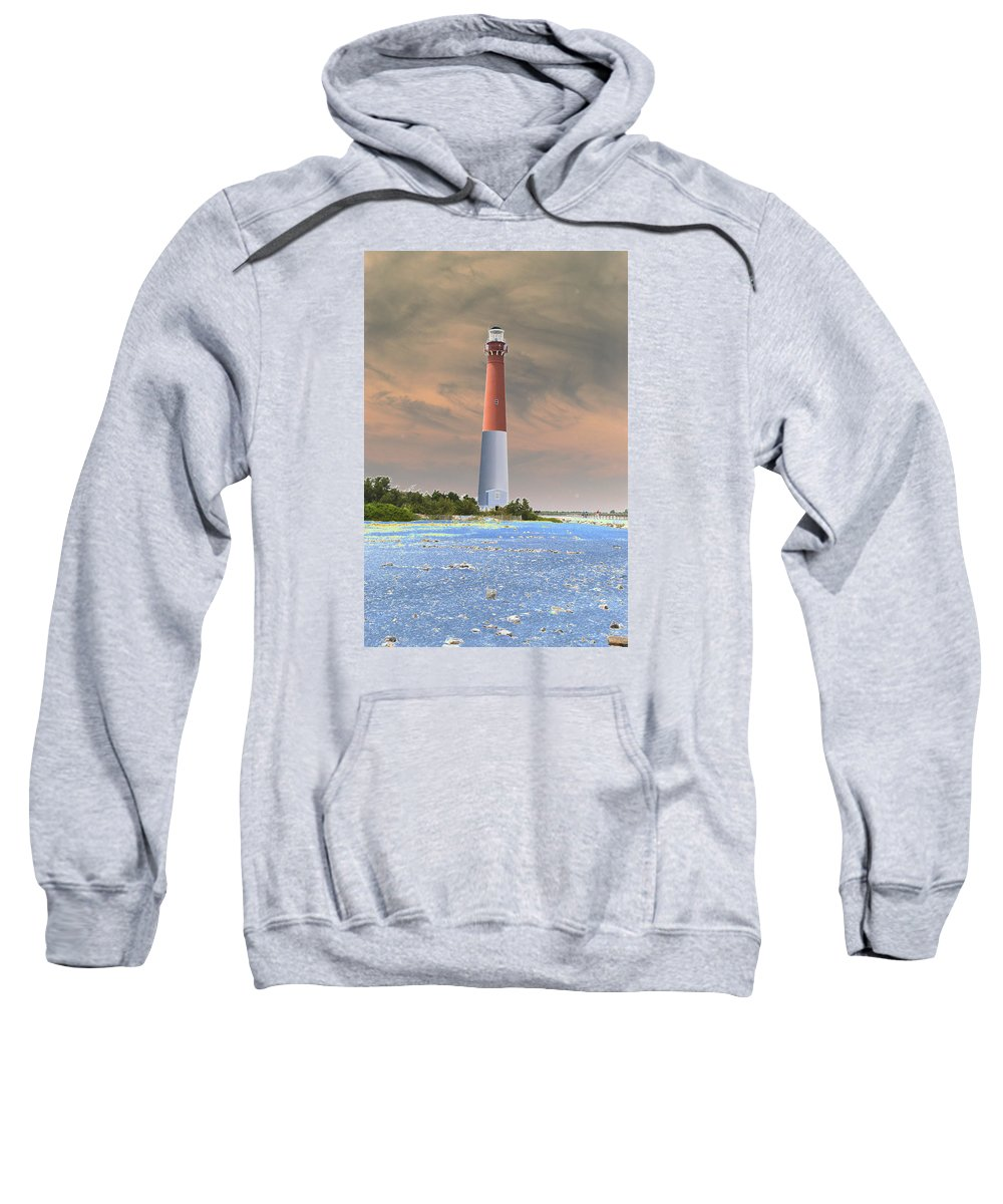 Lighthouse Sweatshirt featuring the photograph Barnegat Abstract by Christiane Schulze Art And Photography