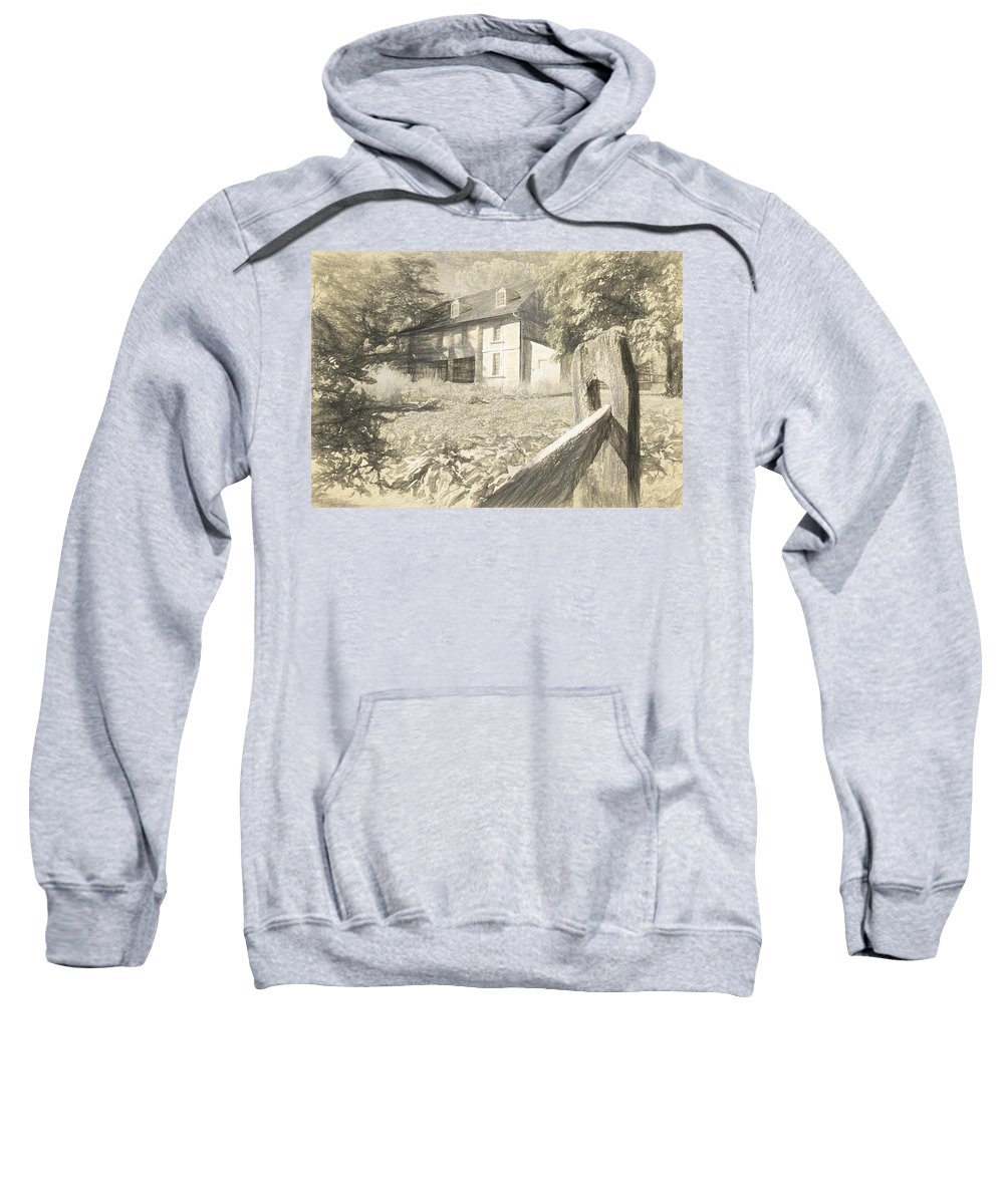 Bartrams Garden Sweatshirt featuring the photograph Bartram Drawn by Alice Gipson