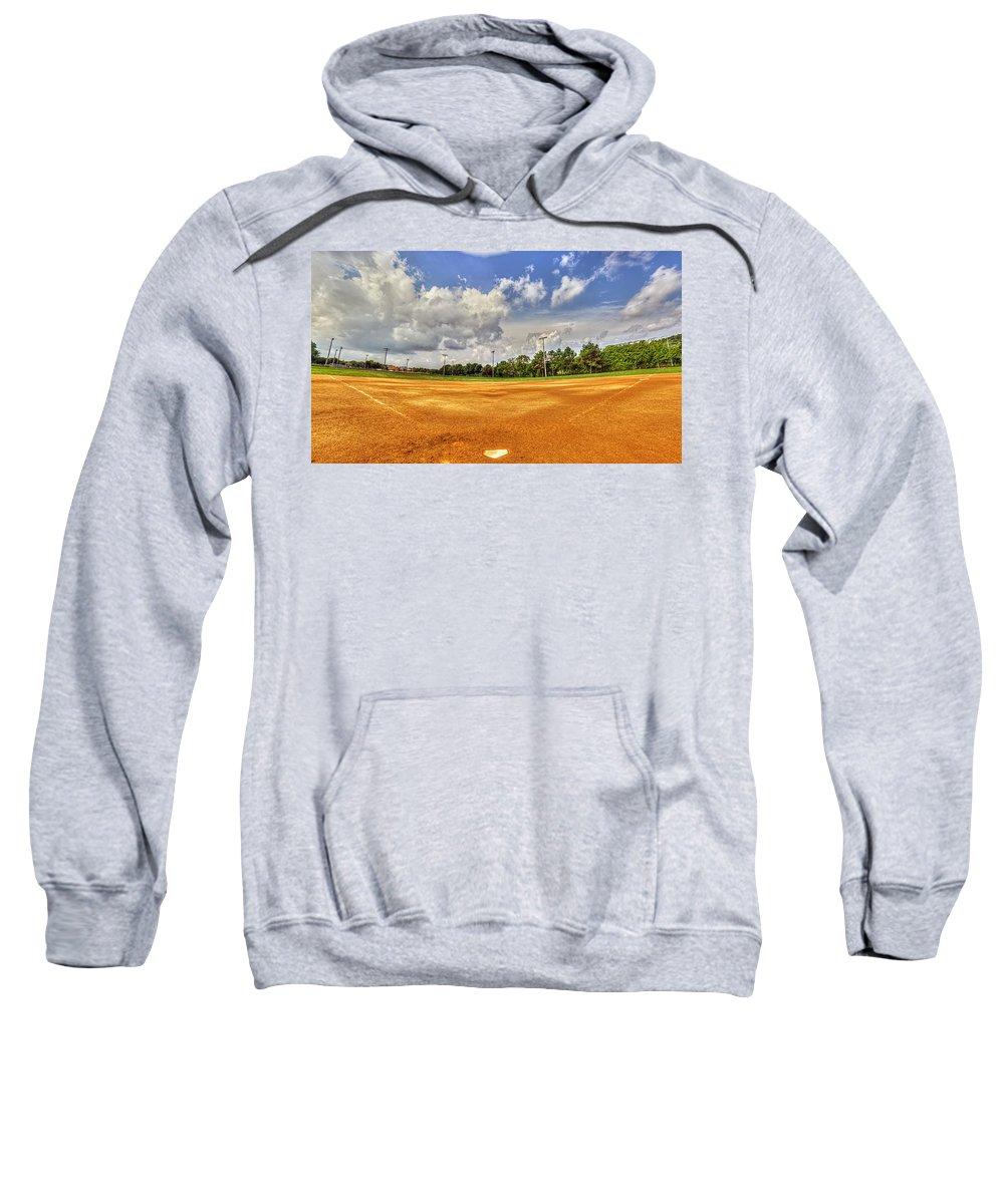 Baseball Sweatshirt featuring the photograph Baseball Field by Tim Buisman