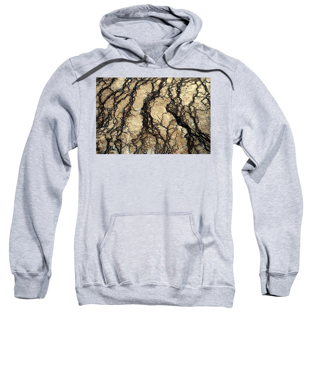 Yellowstone Sweatshirt featuring the photograph Basin Water Runoff by Kathy Sampson