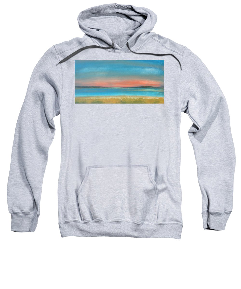 Bay Sweatshirt featuring the painting Bay Sunset by Rhodes Rumsey
