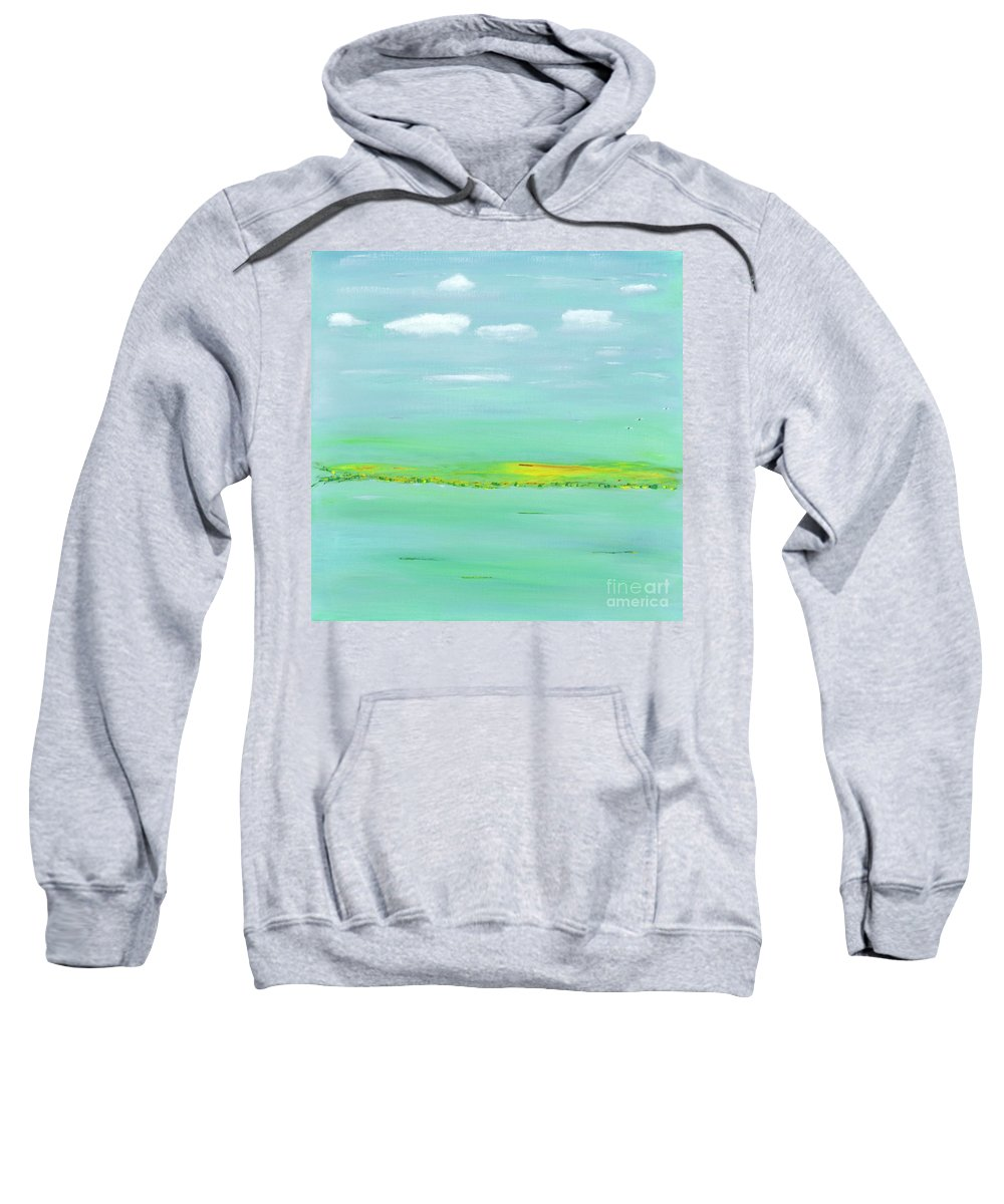 Water Sweatshirt featuring the painting Bay View by Milton Tarver