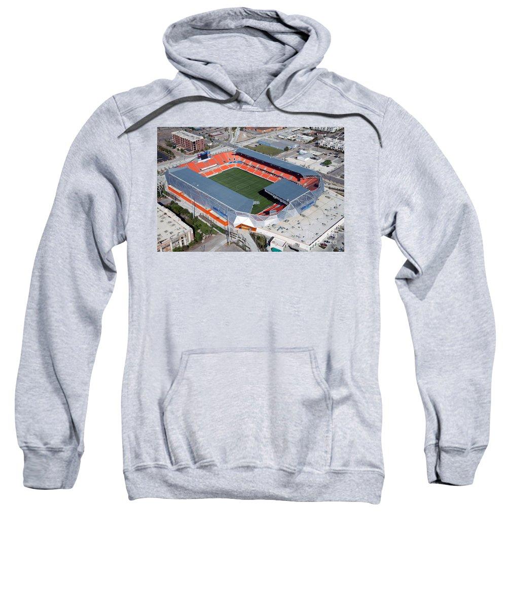 Bbva Sweatshirt featuring the photograph Bbva Compass Stadium In Houston by Bill Cobb