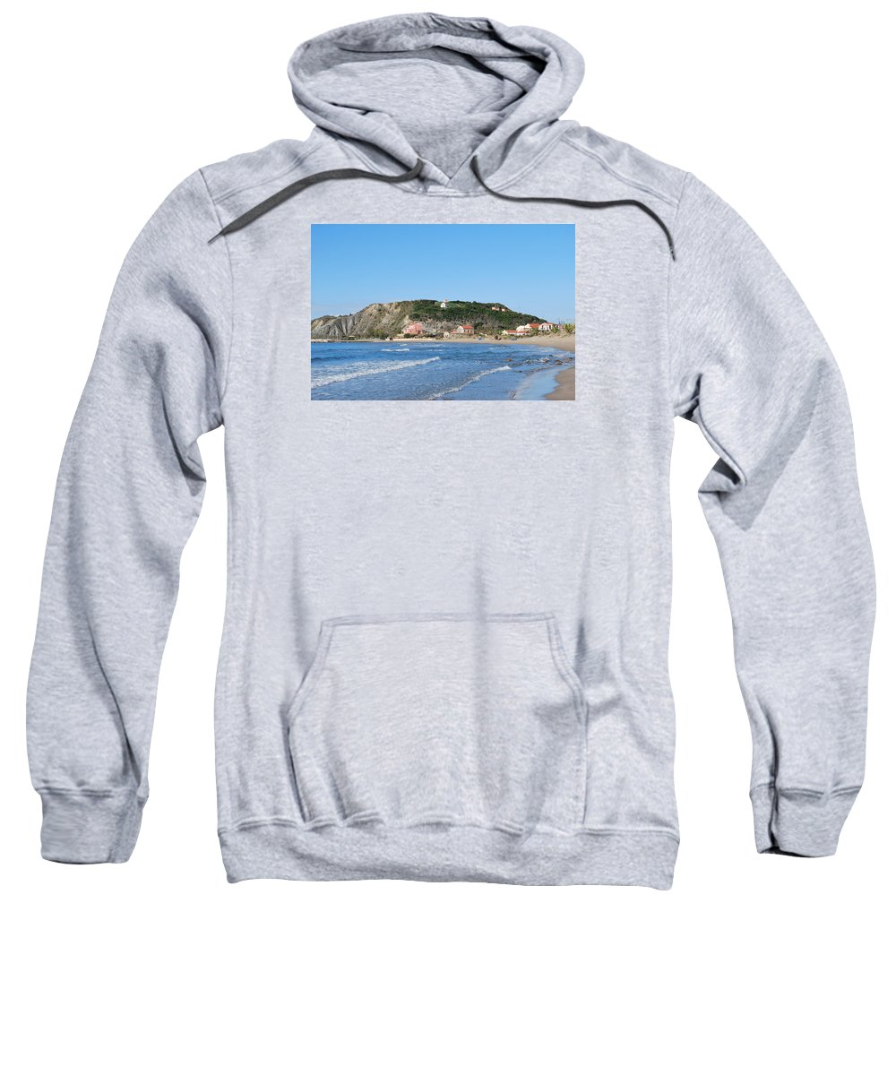 Seascape Sweatshirt featuring the photograph Beach 2 by George Katechis