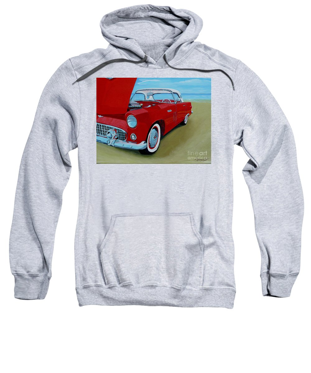 Car Sweatshirt featuring the painting Thunder Bird by Anthony Dunphy