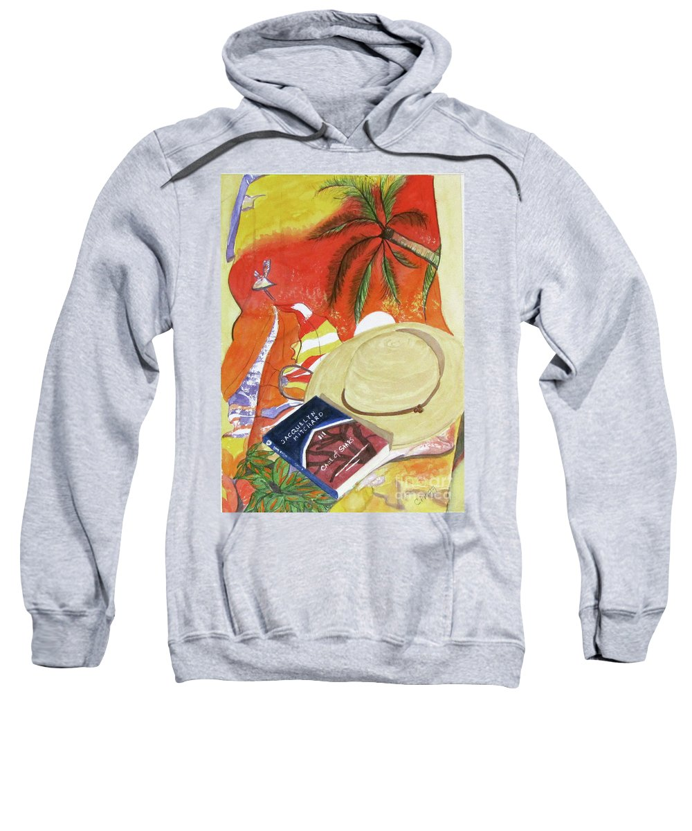 Beach Sweatshirt featuring the painting Beach Day by Carol Flagg