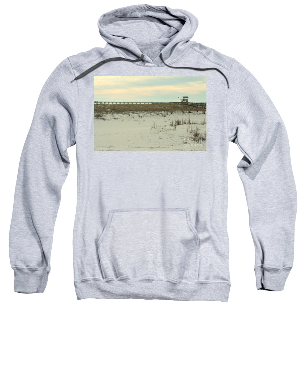 Navarre Beach Sweatshirt featuring the photograph Beach Day by Michelle Powell