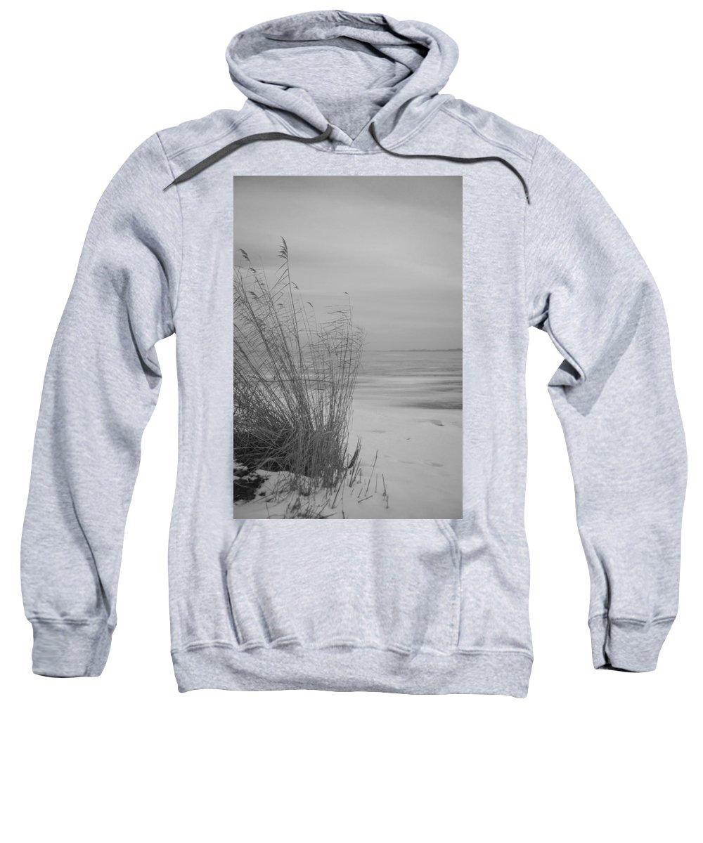 Island Of Ruegen Sweatshirt featuring the photograph Beach Grass In The Snow by Ralf Kaiser