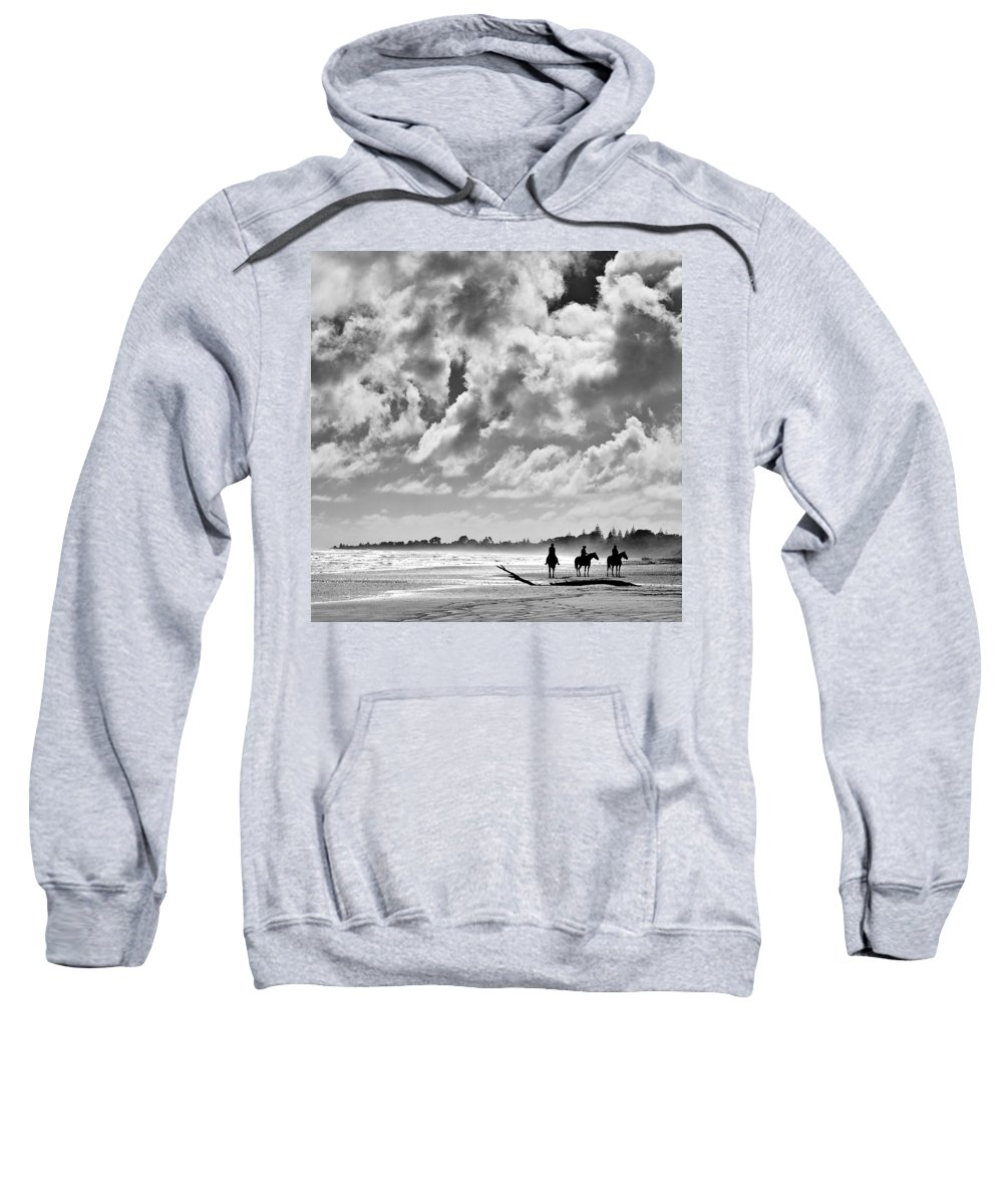 Ride Sweatshirt featuring the photograph Beach Riders by Dave Bowman