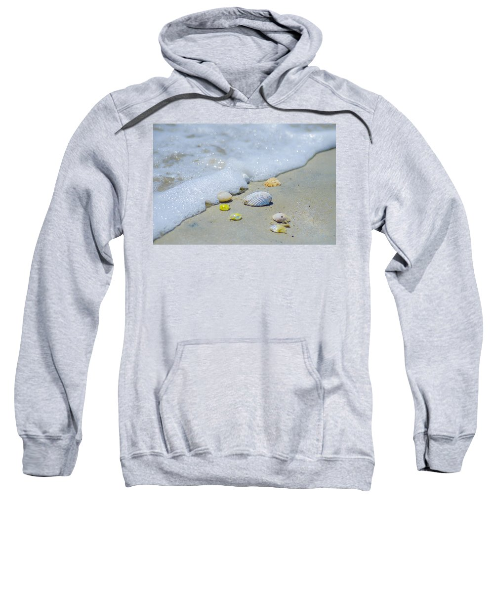 Beach Sweatshirt featuring the photograph Beach Treasures by Bill Cannon