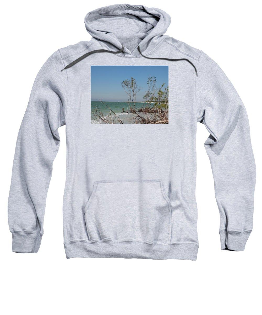 Beach Sweatshirt featuring the photograph Fort De Soto Beachview by Christiane Schulze Art And Photography