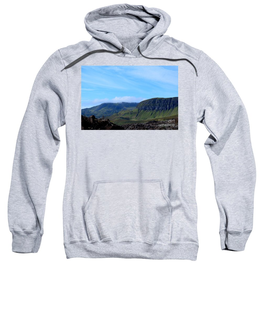Bearreraig Sweatshirt featuring the photograph Bearreraig Bay In Scotland by DejaVu Designs