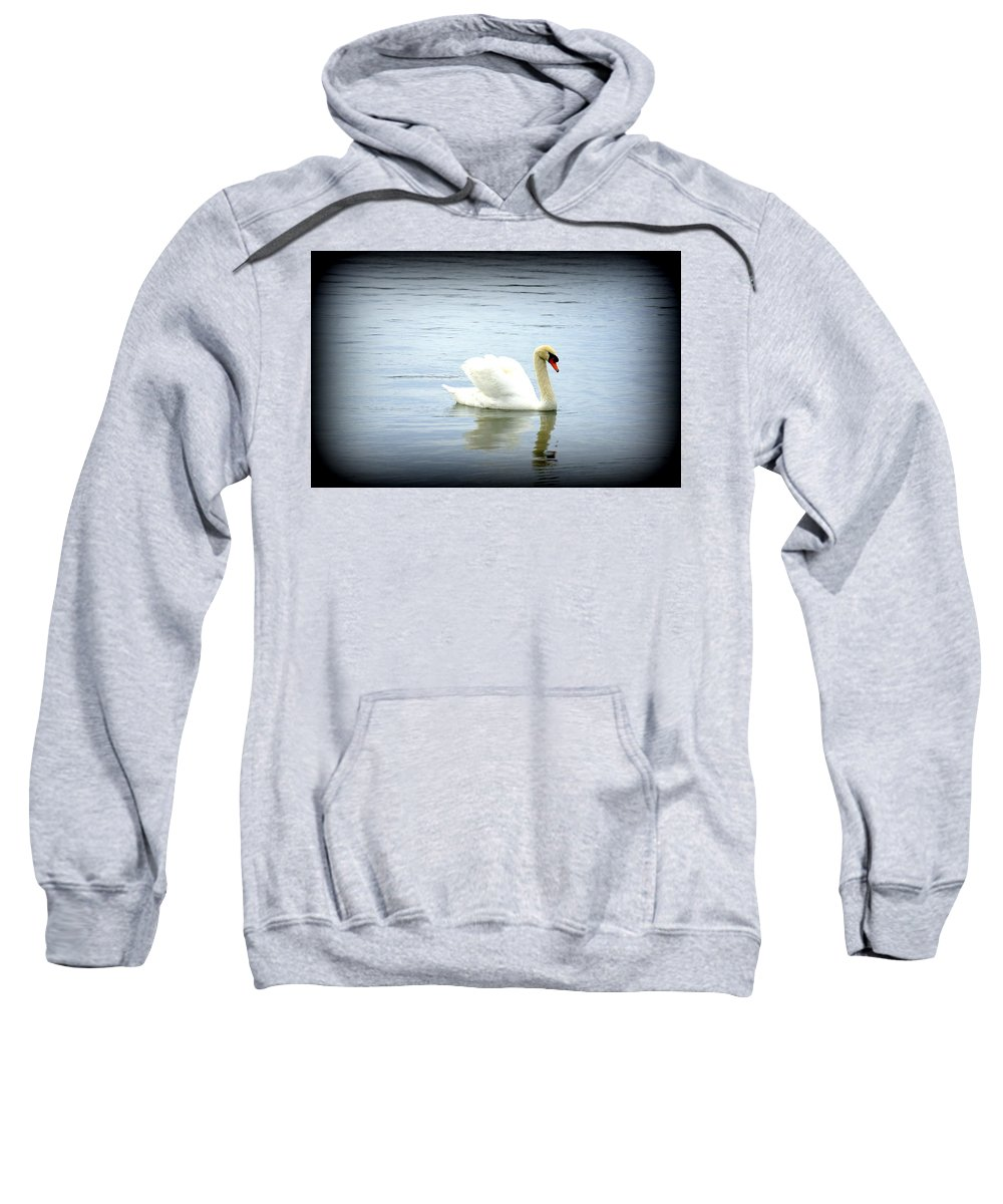 Swan Sweatshirt featuring the photograph Beauty And Elegance by Laurie Perry