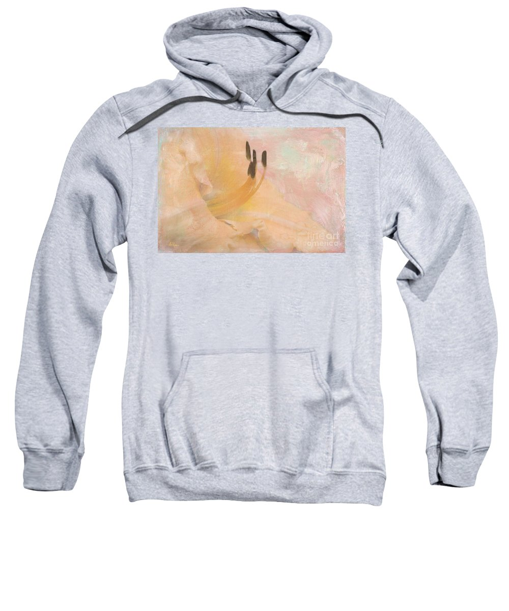 Lily Sweatshirt featuring the photograph Becoming by Betty LaRue