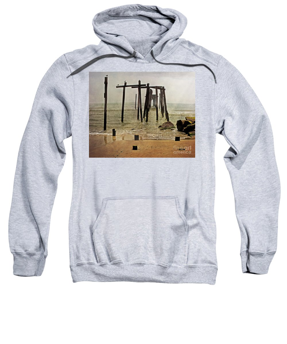 Ocean City Sweatshirt featuring the photograph Before Sandy by Tom Gari Gallery-Three-Photography