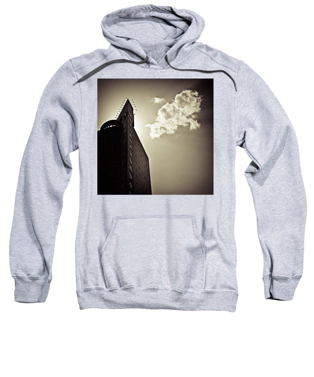 Beijing Sweatshirt featuring the photograph Beijing Cloud by Dave Bowman