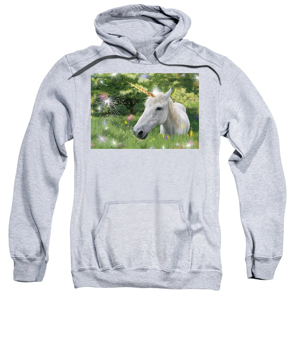 Unicorm Sweatshirt featuring the photograph Believe In Magic by Shannon Story