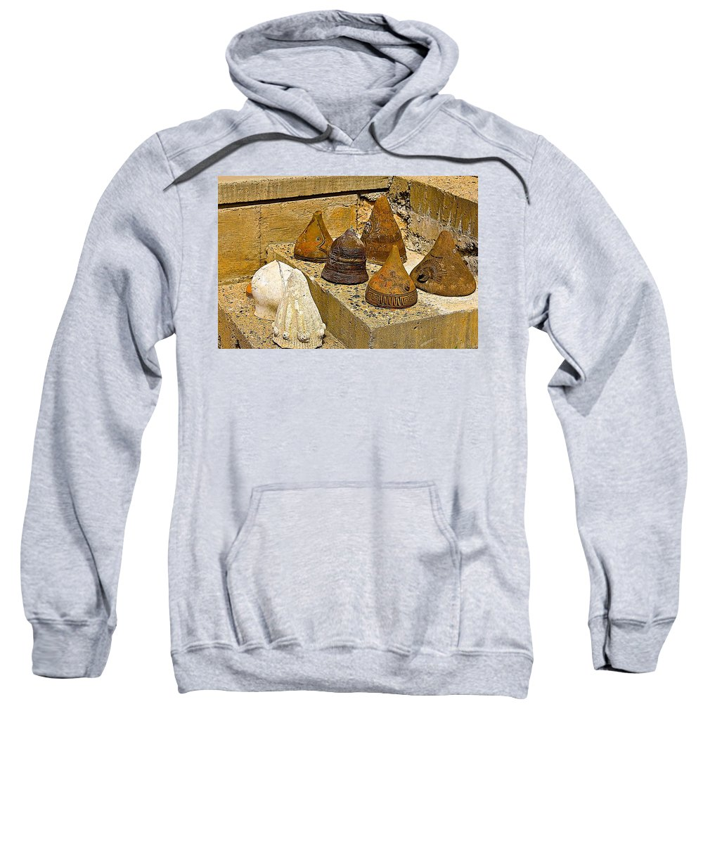 Arcosanti Sweatshirt featuring the photograph Bell Forms by Barbara Zahno