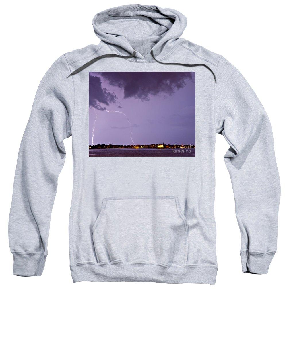 Lightning Sweatshirt featuring the photograph Belleair by Stephen Whalen