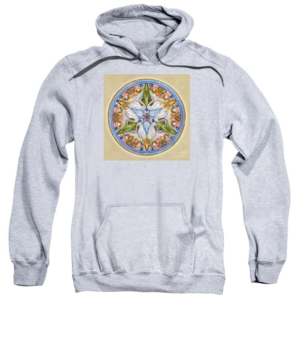 Mandala Art Sweatshirt featuring the painting Beloved Mandala by Jo Thomas Blaine