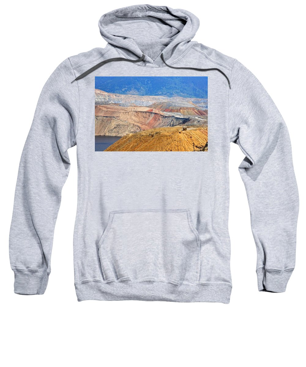 Butte Sweatshirt featuring the photograph Berkeley Pit by Image Takers Photography LLC - Carol Haddon