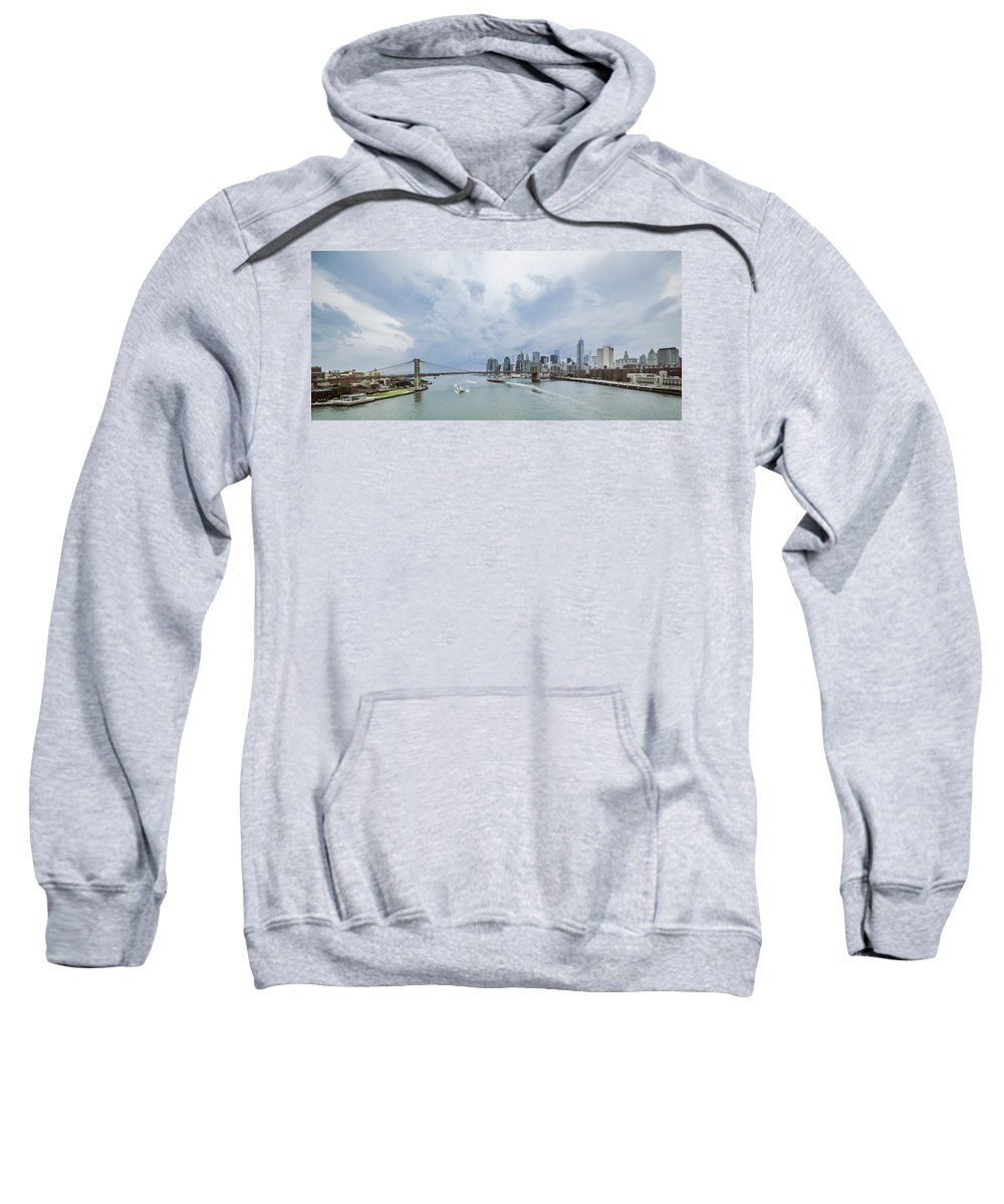 Manhattan Sweatshirt featuring the photograph Between Brooklyn And Manhattan by Alex Potemkin