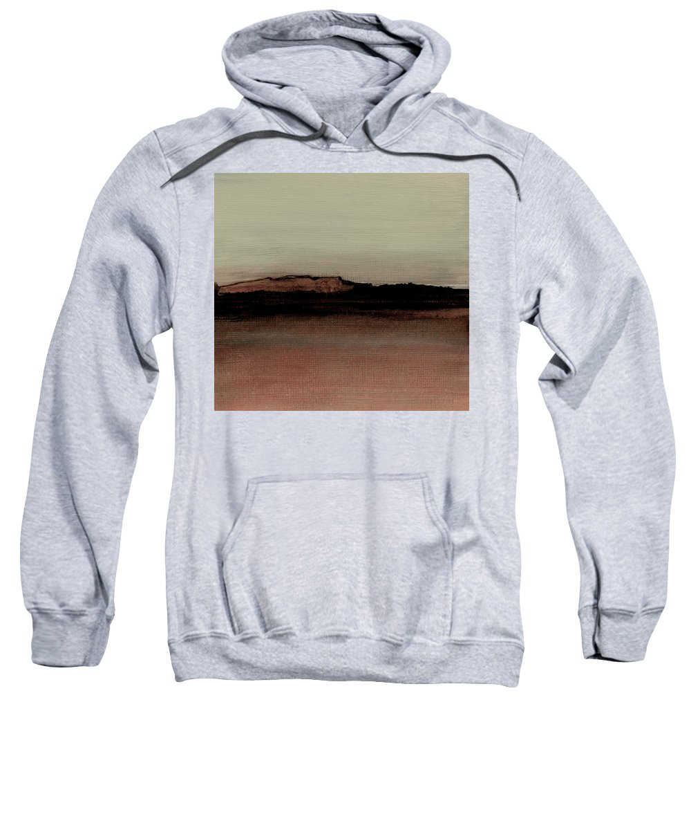 Fineartamerica.com Sweatshirt featuring the painting Between The Woods And Frozen Lake Number 1133-10 by Diane Strain