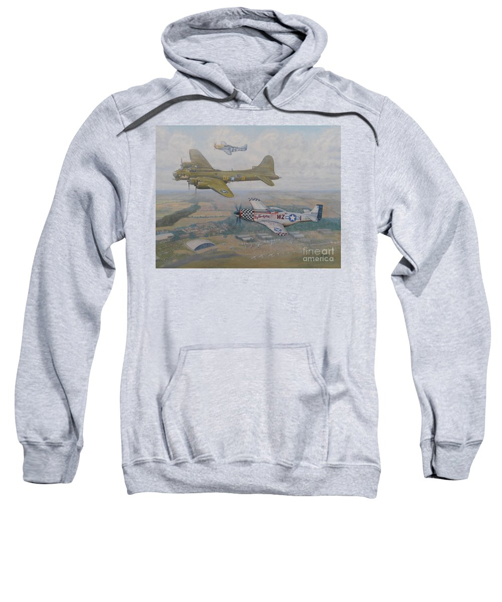 Oil Paintings Sweatshirt featuring the painting Big Beautiful Doll's Farewell by Elaine Jones