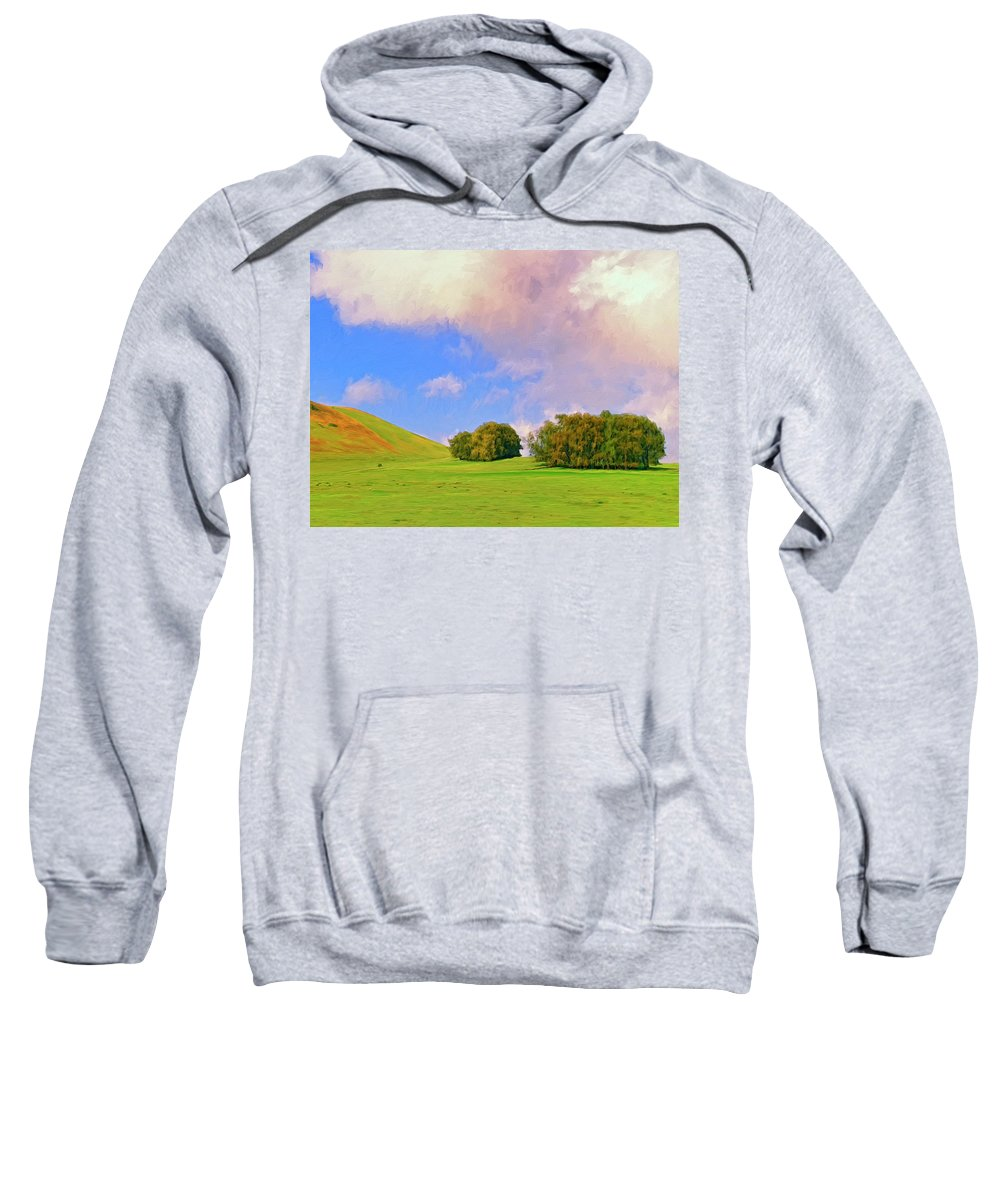 Big Island Ranch Sweatshirt featuring the painting Big Island Ranch by Dominic Piperata