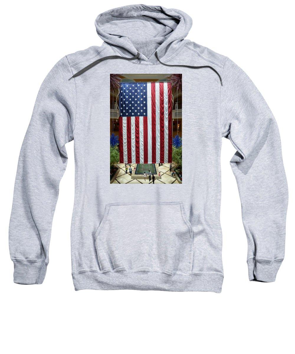 Flag Sweatshirt featuring the photograph Big Usa Flag 2 by RicardMN Photography