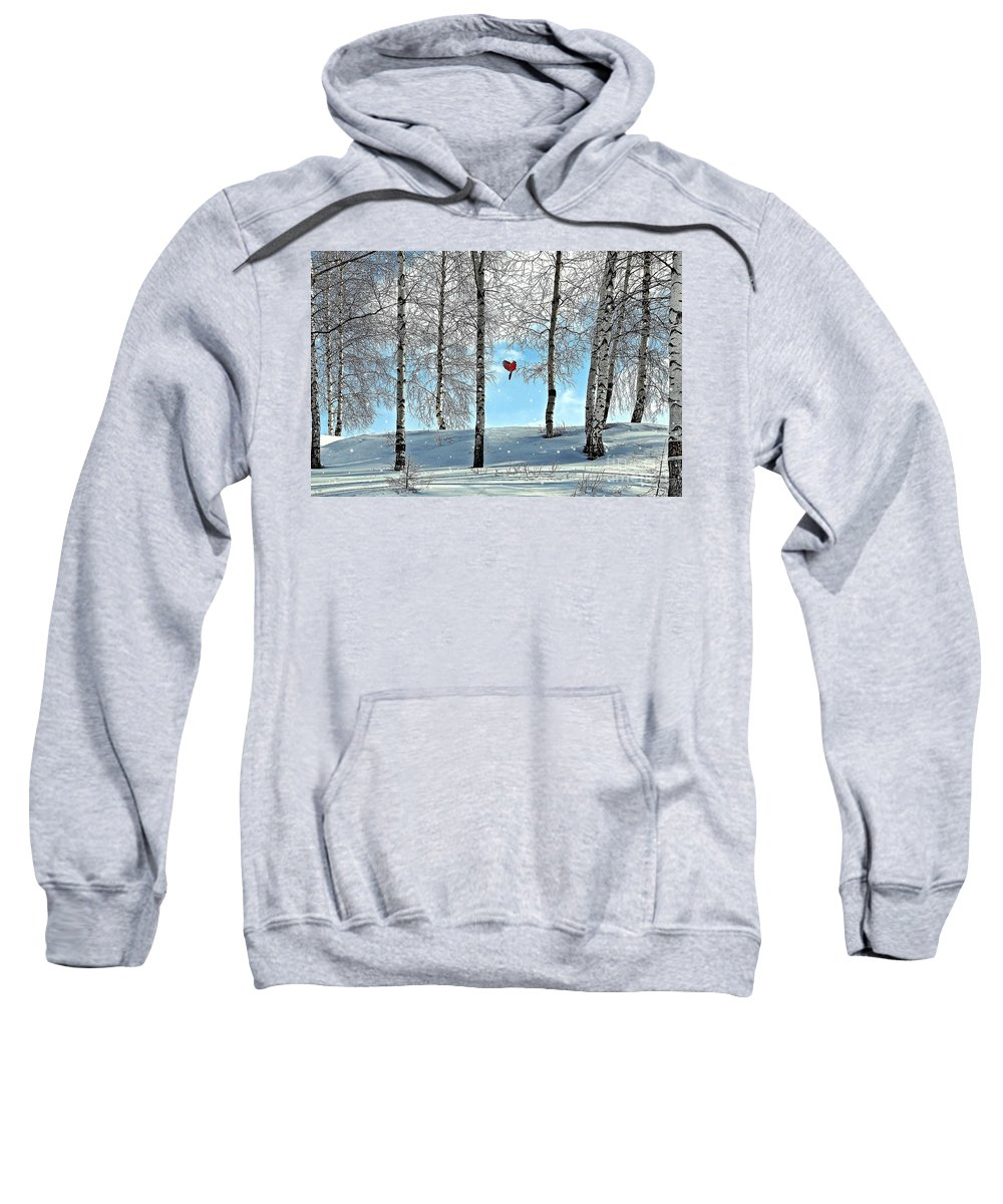 Birch Trees Sweatshirt featuring the photograph Birch Trees by Liane Wright