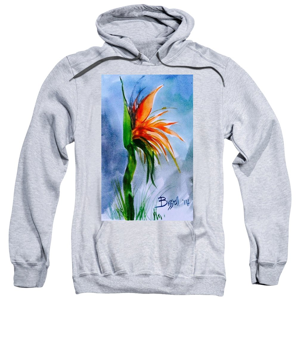 Floral Sweatshirt featuring the painting Bird Of Paradise by Mickey Bissell