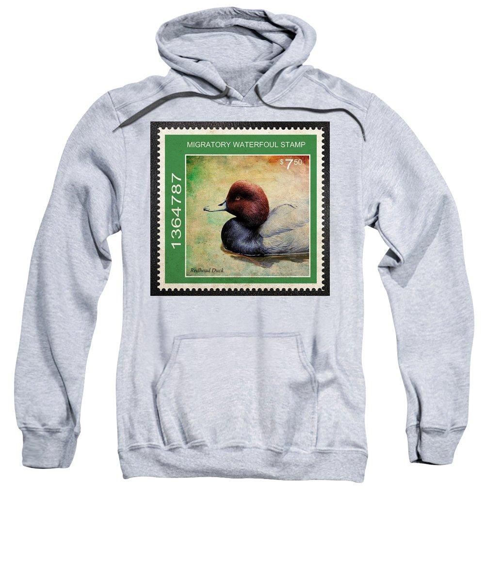 Drakes Sweatshirt featuring the photograph Bird Stamp by Steve McKinzie