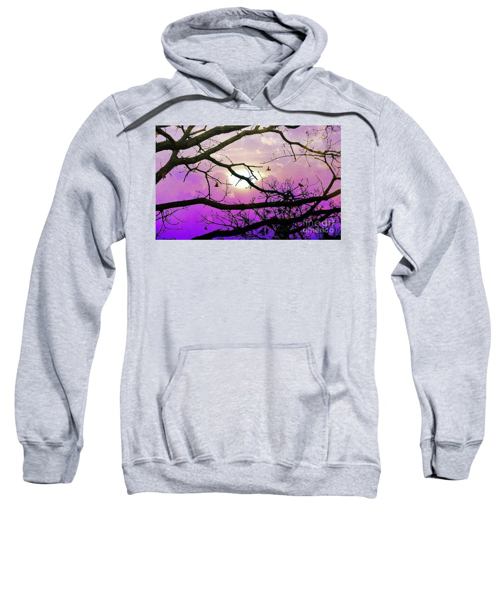Trees Sweatshirt featuring the photograph Birds Roosting For Night by Janette Boyd