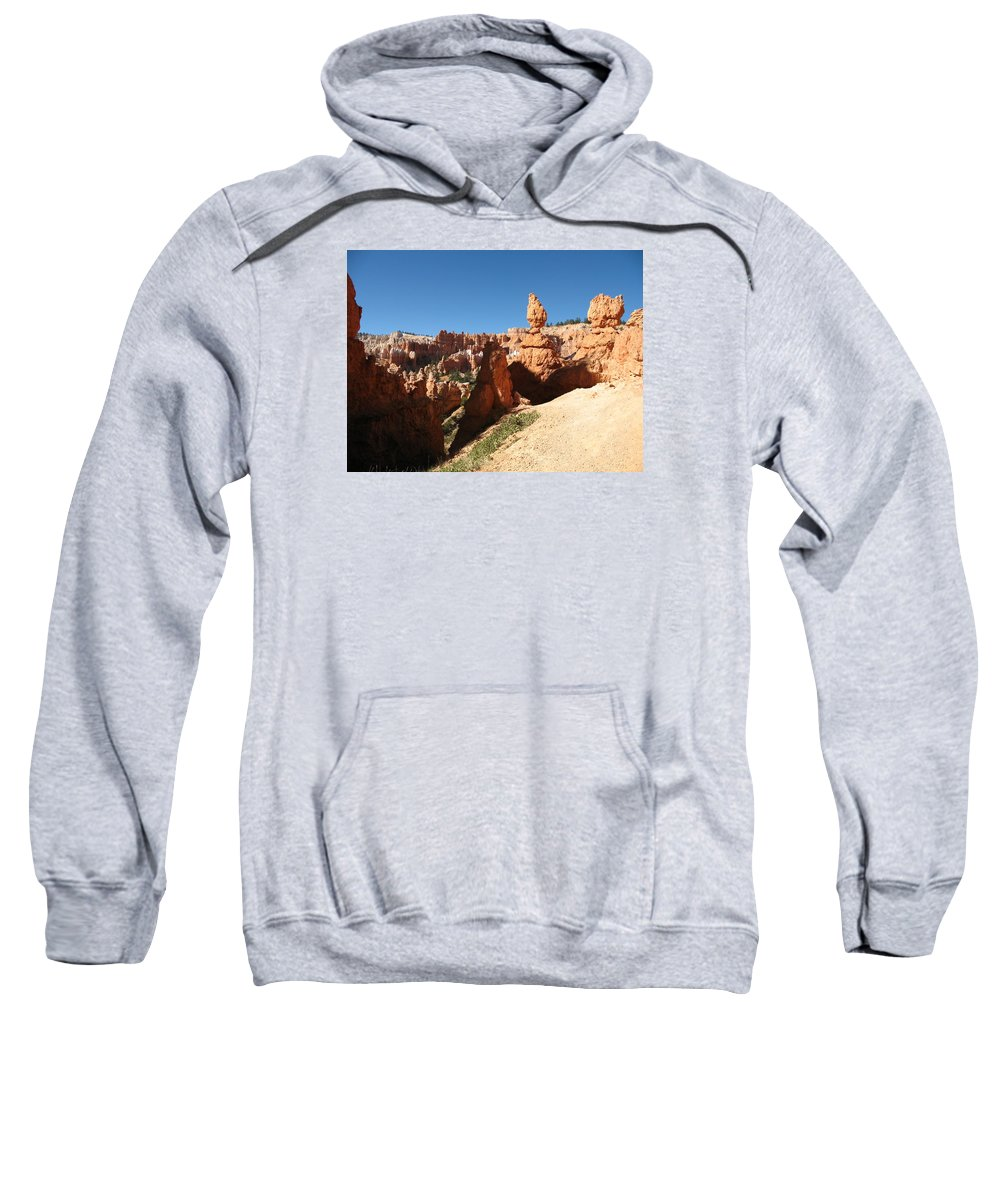Canyon Sweatshirt featuring the photograph Bizarre Shapes - Bryce Canyon by Christiane Schulze Art And Photography